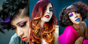 cuts, color, styling and make-up by Tanya J.