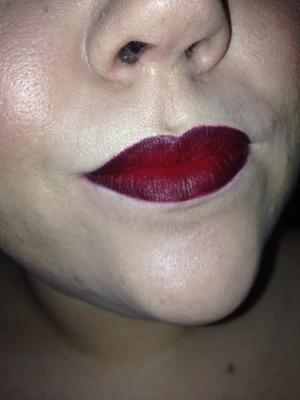 Mac rebel and black eyeliner as lip liner