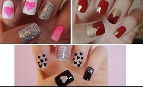 Three Easy Valentine's Nail Tutorials