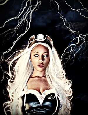 "Storm has hands down always been my fav heroine . She is the inspiration for my ""Halloween Transformation"" this year ;D"
