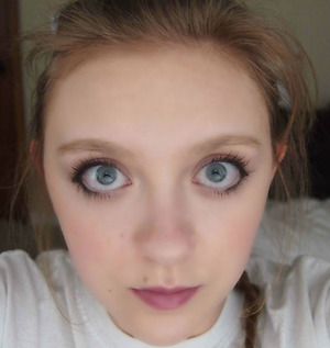 I did purple lips and some eyeliner to kind of reshape my eyes! I really like how it is a strong yet still sweet look.