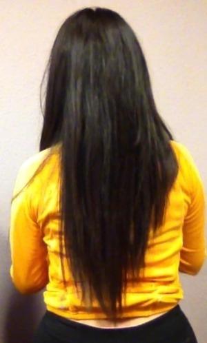 I deep condition my hair twice a week and use the organix shampoo.