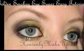 Golden Smokey Eye Super Easy Tutorial