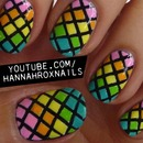 Rainbow Fishnet Nails