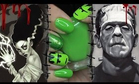 DIY Frankenstein Nails     Easy Halloween Nail Tutorial