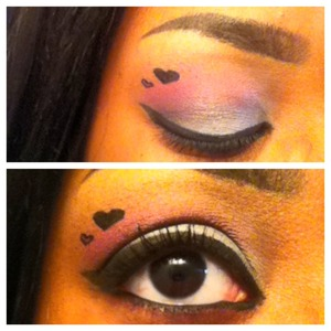 this is a really late upload but this was my valentines day eye this year :] it was easy, simple and really cute!