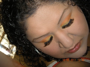 My Happy Halloween Candy Corn Look using L.A. Colors.... I WON A CONTEST WIT THIS LOOK!!!