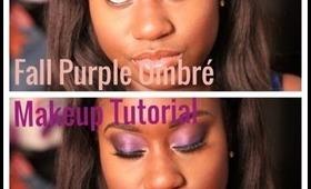 Fall Purple Ombre Makeup Tutorial