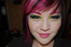 Pink Brows and Bright makeup