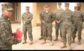 Marine Corps Reenlistment Ceremony