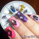 Shine Rhombus Rhinestone Nail Art