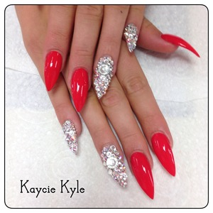 Swarovski AB diamonds on two finger by kaycie Kyle