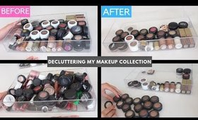 DECLUTTERING MY MAKEUP COLLECTION | Eyeshadows Palettes, Pigments, MAC Eyeshadows, Eye Bases