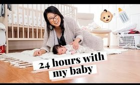 24 HOURS WITH A NEWBORN | DITL - first time mom 💕