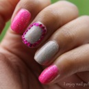 Pink & Nude Glitter Mani