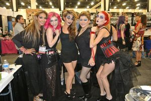 Me & my fellow team artists!  Ruby & us Ruby Girls!