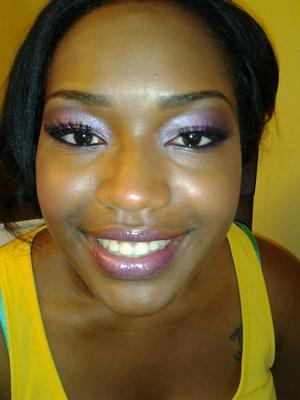 Prom Look: Pinks and Lavender with lashes.