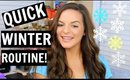 QUICK WINTER ROUTINE! Running Errands | Makeup & Hair! | Casey Holmes