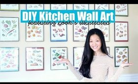 DIY Kitchen Wall Art (feat. Cook's Illustrated) | now&jenn