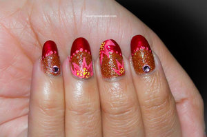 For detail tutorial visit http://lovefornailpolish.com/french-manicure-design-with-flowers-pretty-flower-nails