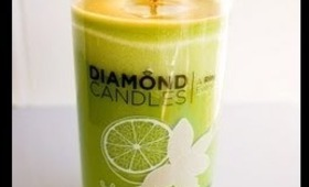 REVIEW & GIVEAWAY: Diamond Candles Vanilla Lime Candle