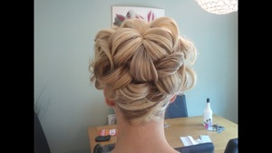 This was done for a prom.  Something girly and pretty as requested!