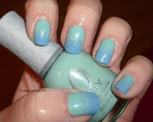 Orly Gumdrop, China Glaze Electric Beat and Cover Girl City Lights