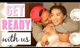 Get Ready With Us | our first Valentine's as a married couple!