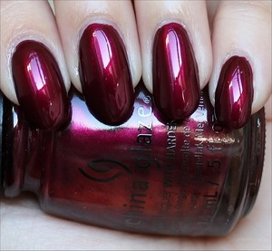 See my in-depth review & more swatches here: http://www.swatchandlearn.com/china-glaze-red-y-willing-swatches-review/