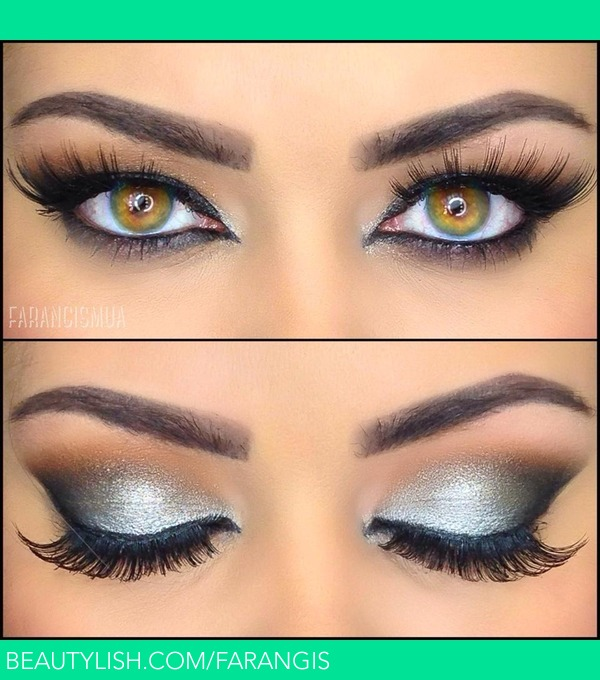 Silver Eye Makeup Fara As Farangismua Photo Beautylish