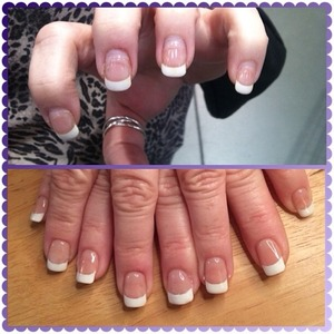 French manicure acrylic and gel polish fill