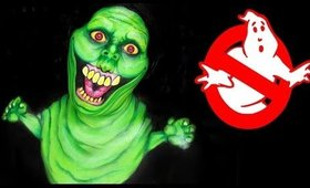 Ghostbuster's SLIMER Makeup Transformation