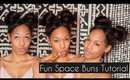 Cute & Funky Fresh Space Buns/Double Bun Tutorial | Heatless Hairstyle
