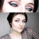 Different eyeliner + purple smokey