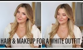 💁🏼♀️HAIR & MAKEUP FOR A WHITE OUTFIT👆🏻