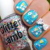 Cotton Candy Bubble Bath Glitter Nails