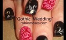 How to Paint Roses: robin moses gothic steampunk wedding nail art design tutorial 559