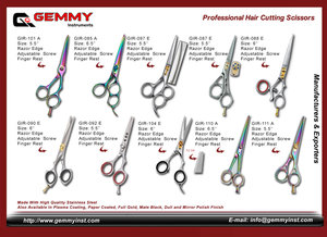 Manufacturers and Exporters of All kinds of Pet Grooming Shears, Pet Grooming Thinning Shears, Pet Grooming Scissors,  It is available in different finishing such as Mirror Finish, Satin Finish, Plasma Coating, Blue Plasma Coating, Gold Plated, Fancy Prin