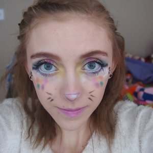 This is the cute Easter Bunnie makeup I wore for Easter.
