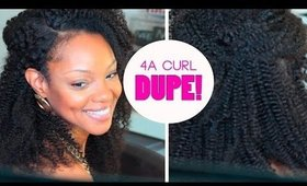 Perfect 4A Curl Dupe | Protective Style