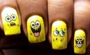 Sponge Bob - Decals Nail Art Nail Water Decals How To Nail Polish Easy Nail designs cute