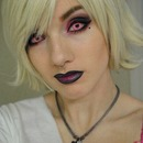 Hot pink Gothica, pink and black gradient lip