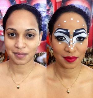Drama, face art