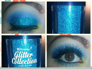 New bh cosmetics glitter collection. I couldn't take a good picture to show the true teal color of the glitter. anywho its a beautiful color.