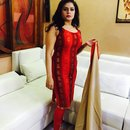 Red n golden dress