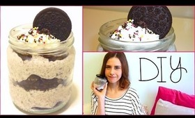 DIY Oreo cheesecake ICE CREAM in a jar!