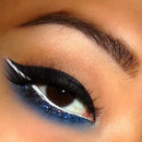 Thick Navy Blue Liner with Glitter