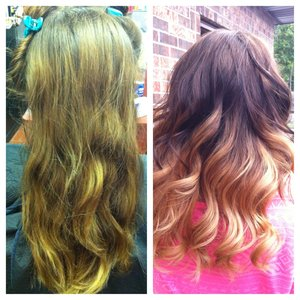 Used Lanza hair color and lightener.