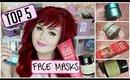 Top 5 Face Masks | Drugstore + Highend