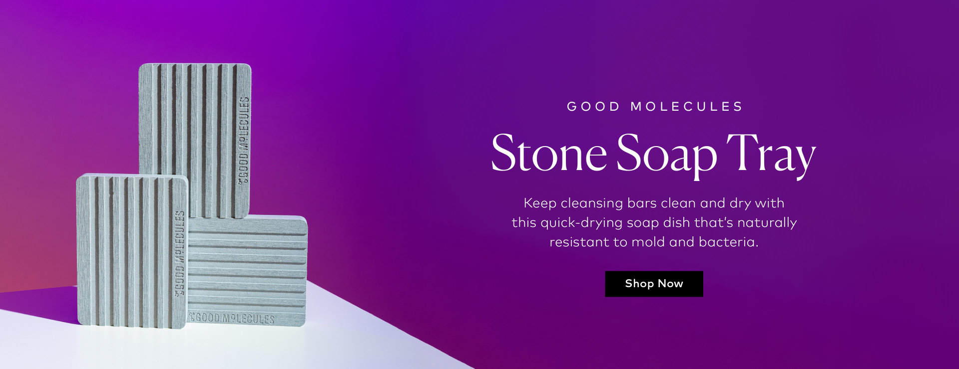 Shop Good Molecules Stone Soap Tray on Beautylish,com
